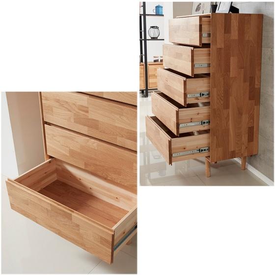 Tủ ngăn kéo Calla 5 hộc gỗ cao su - Cozino