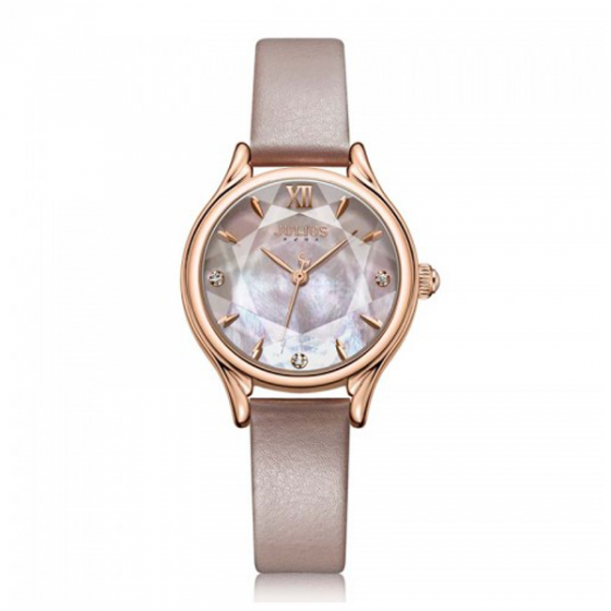 Đồng hồ nữ Julius Hàn Quốc chính hãng dây da JA-1154C (da)