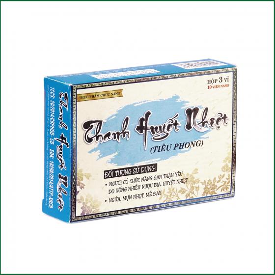 Viên uống Thanh Huyết Nhiệt Công Đức giúp giải độc gan thận, điều trị bệnh ngứa, mụn nhọt, mề đay