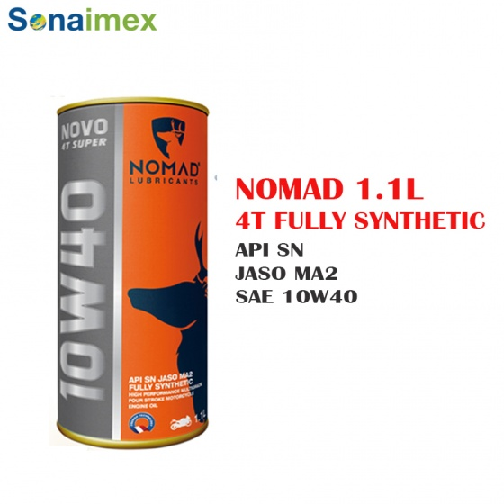 Mua 2 tặng 1 nhớt tổng hợp toàn phần 100 Nomad 1.1L API SN- JASO MA2 10W40