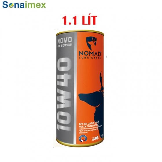 Mua 2 tặng 1 nhớt tổng hợp toàn phần 100% Nomad 1.1L API SN- JASO MA2 10W40