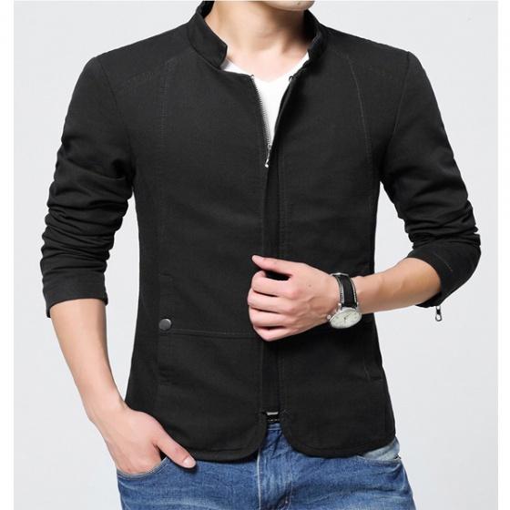 Áo khoác kaki nam kiểu vest 2 lớp cao cấp AKK002 - đen