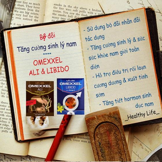 Combo 2 lọ viên uống tăng cường sinh lý nam Omexxel Ali 60 viên - tặng 1 lọ Omexxel Libido 30v