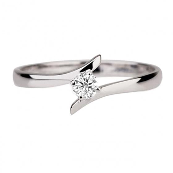 Trang sức vàng trắng đá kim cương nhân tạo - VTRG0723