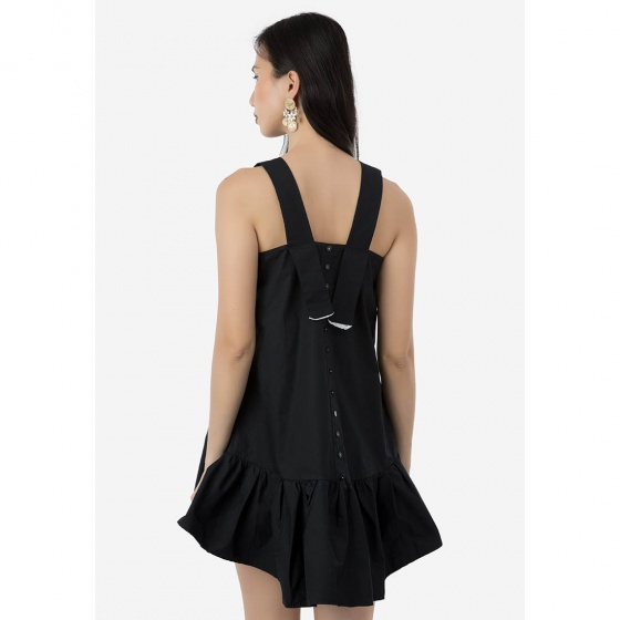 Đầm suông Amun bèo màu đen
