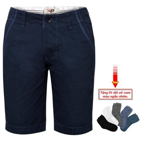 Quần short kaki nam cao cấp pigofashion PSK01 (Xanh Đen, tặng vớ)