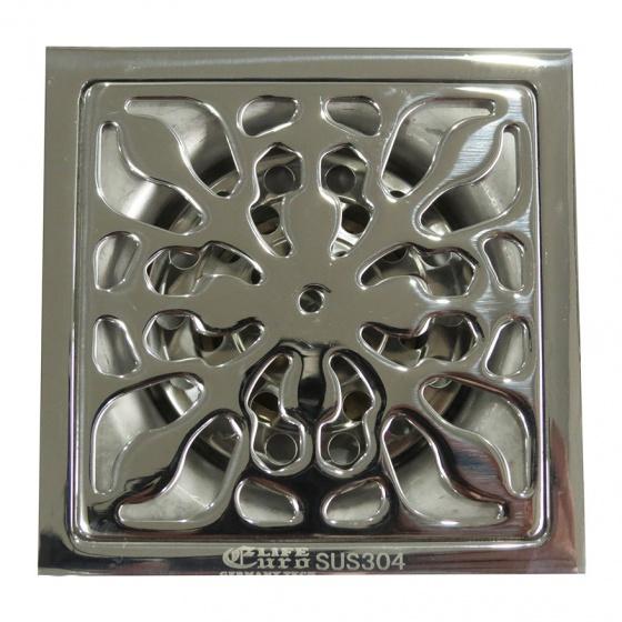 Hố ga thoát sàn chống hôi Inox SUS 304 Eurolife EL-HG06 (Trắng bạc)