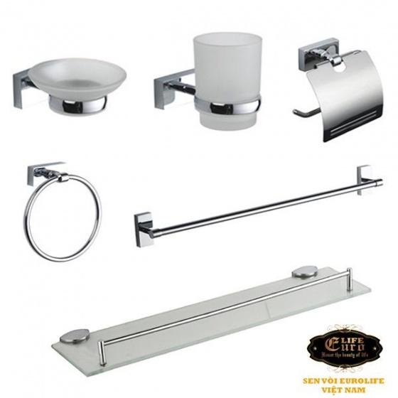 Bộ phụ kiện Inox 6 món trong phòng tắm Eurolife EL-P02