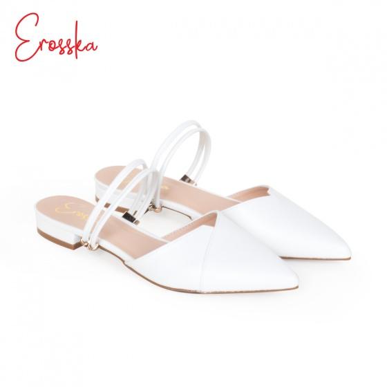 Giày nữ, giày cao gót kitten heel Erosska mũi nhọn cao 2cm mũi nhọn phối dây thời trang - EL004 (BA)