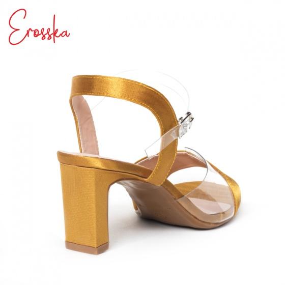 Giày nữ, giày cao gót block heel Erosska đế trụ phối quai trong sắc màu thời trang - EM013 (BA)