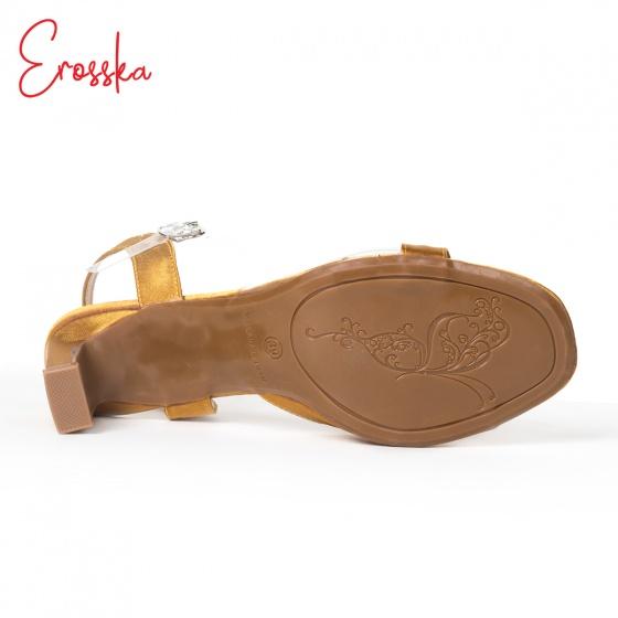 Giày nữ, giày cao gót block heel Erosska đế trụ phối quai trong sắc màu thời trang - EM013 (RE)
