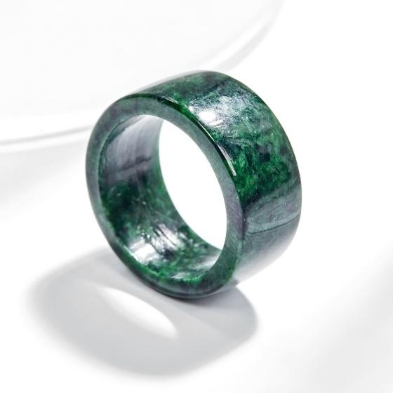 Nhẫn phong thủy nam đá cẩm thạch sơn thủy AAA Ngọc Quý Gemstones