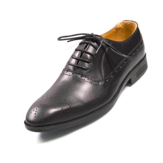 Giày nam buộc dây da thật - Hàng việt nam Geleli