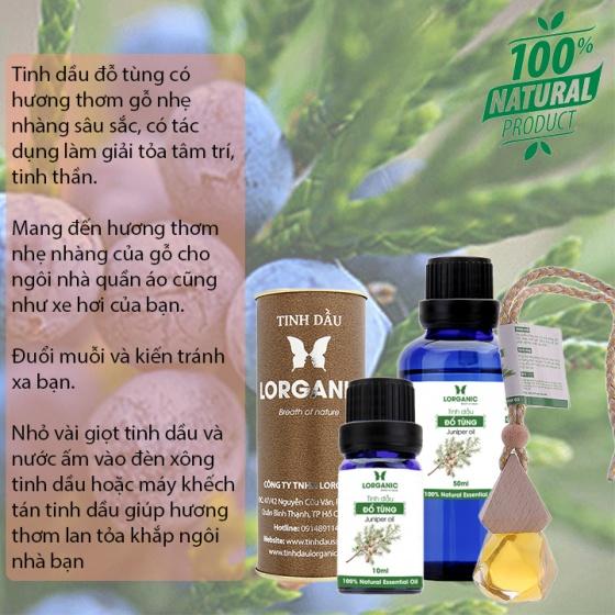Tinh dầu đổ tùng Lorganic Juniper oil (twigs & berries) 50ml