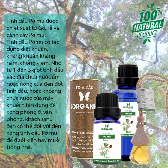Tinh dầu Pemou Lorganic 50ml