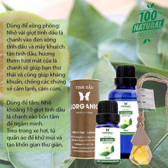 Tinh dầu lá chanh Lorganic Lemon leaf 50ml