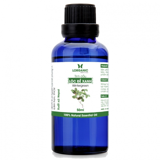 Tinh dầu lộc đề xanh Lorganic Wintergreen 50ml