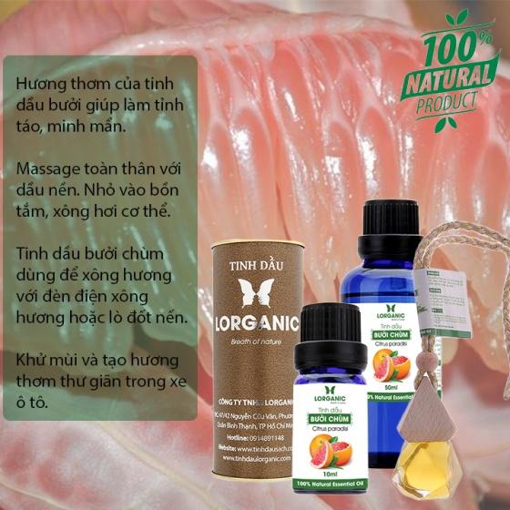 Tinh dầu bưởi chùm Lorganic Citrus paradisi 10ml