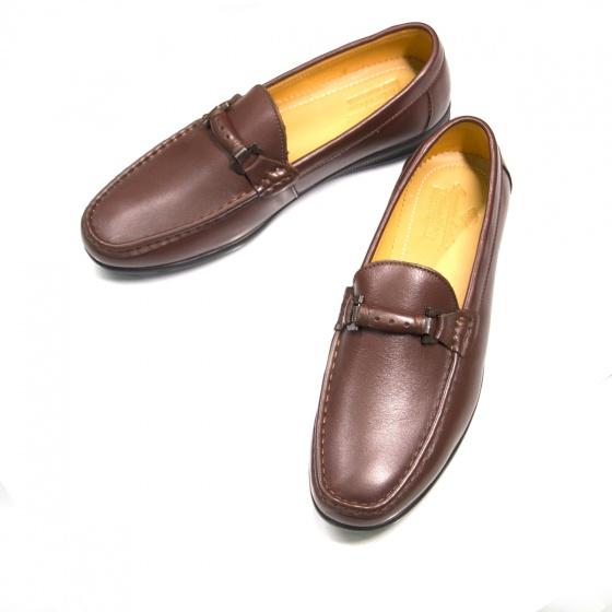 Giày mọi nam da thật - Geleli bảo hành 1 năm