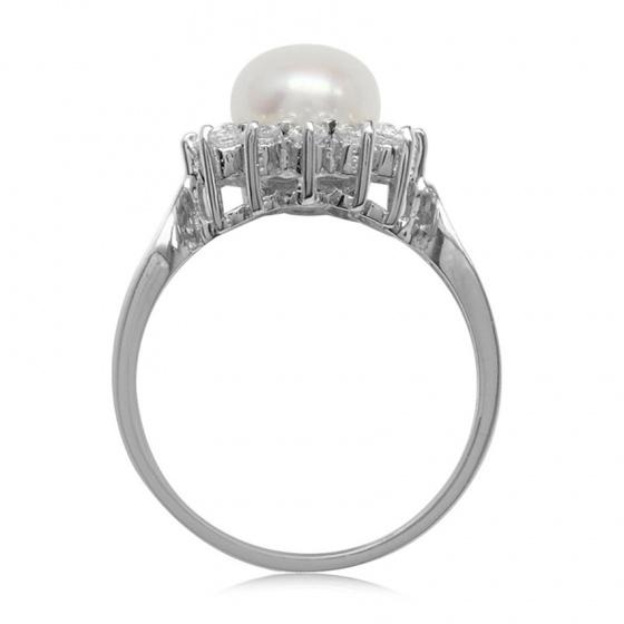 Nhẫn nữ ngọc trai tự nhiên - NNU504