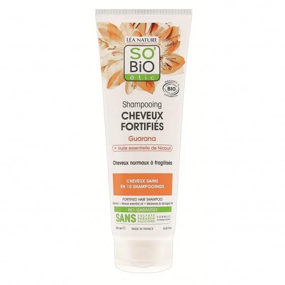 Dầu gội hữu cơ với tinh chất guarana và tinh dầu niaouli dành cho tóc yếu và hư tổn 250ml