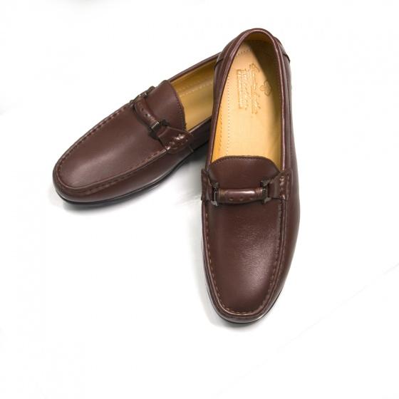 Giày lười giày mọi nam da bò - Geleli