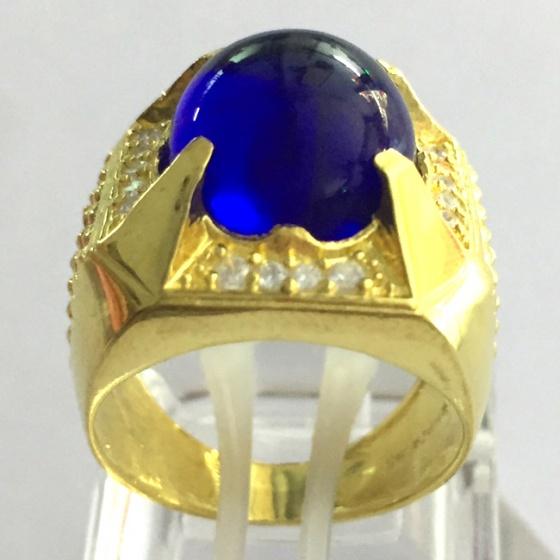 Nhẫn nam thạch anh mạ vàng 18k - RM0962