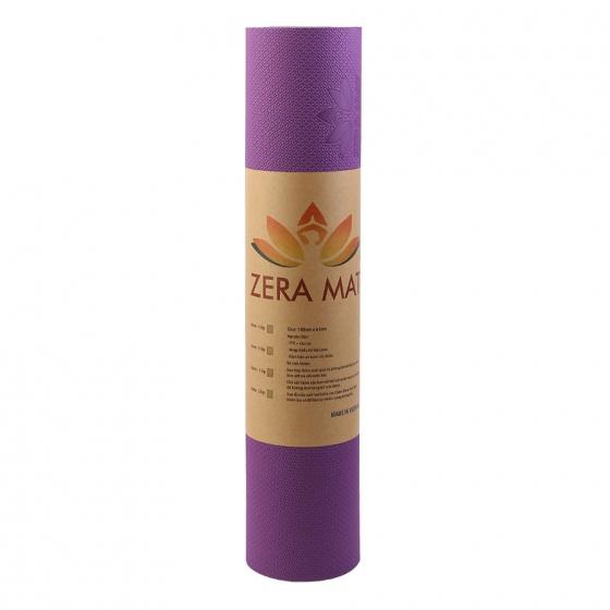 Thảm tập yoga Zera TPE 2 lớp 8mm - tặng kèm túi thảm