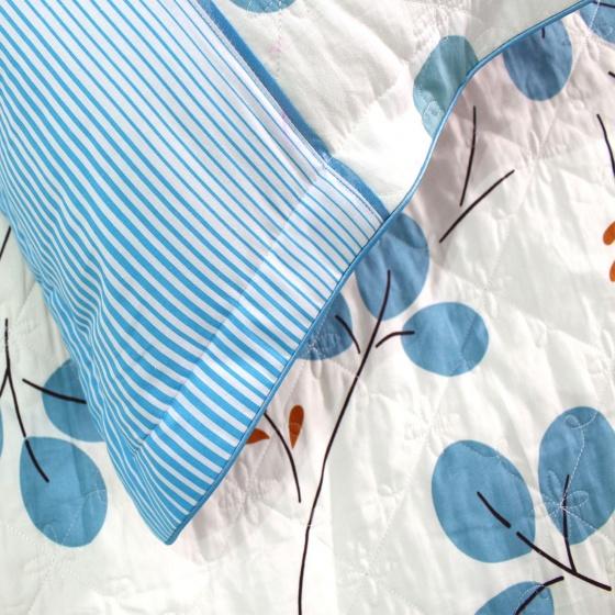 Bộ chăn ga gối cotton sợi bông Hàn Quốc Julia (bộ 5 món có chăn chần gòn) 221SBG16