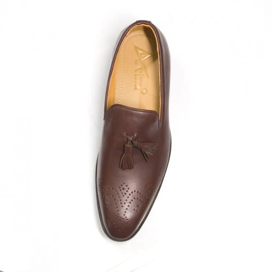 Giày lười nam da bò Geleli