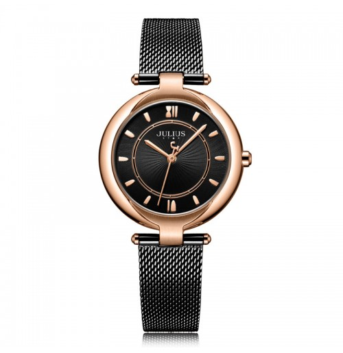 Đồng hồ nữ JS-028 Julius Hàn Quốc dây thép mặt kính sapphire