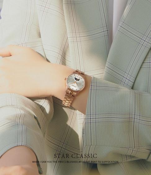 Đồng hồ nữ JS-029 Julius Hàn Quốc dây thép mặt kính sapphire