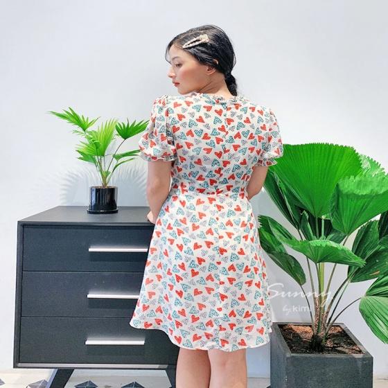 Đầm dáng a viền bèo - ad190080