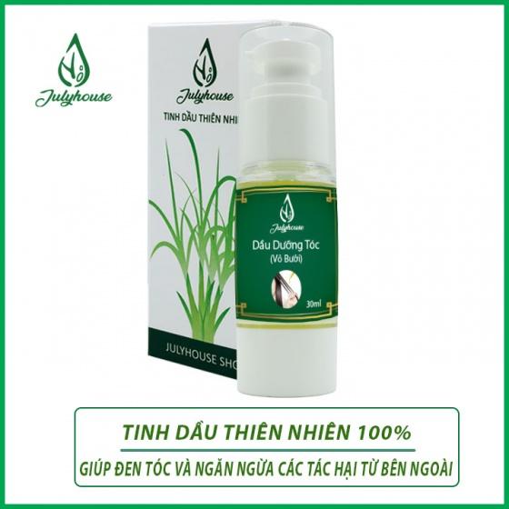 Serum dưỡng tóc dầu mắc ca tinh dầu vỏ bưởi 100% thiên nhiên Julyhouse 30ml