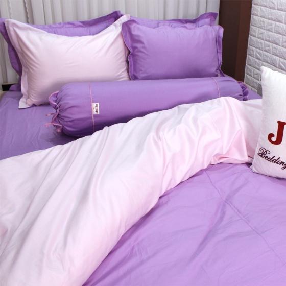 Bộ vỏ chăn ga gối cotton satin Ai Cập Julia (bộ 5 món có vỏ chăn) 535BM18