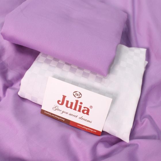 Bộ vỏ chăn ga gối 5 món cotton satin Hàn Julia 545BM16