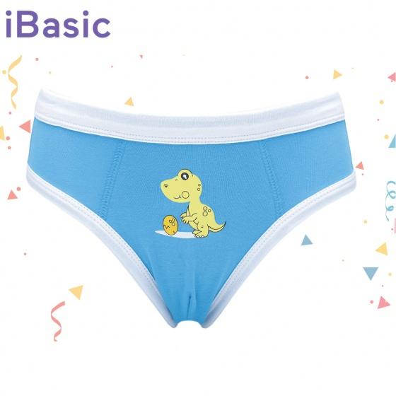Quần brief bé trai khủng long màu xanh iBasic PANB001