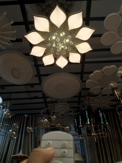 Đèn mâm ốp trần pha lê 06 - OP06-10 - Đèn trang trí Homelight