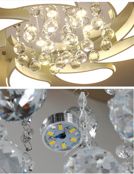 Đèn mâm ốp trần pha lê 0118 - OP118 - Đèn trang trí Homelight