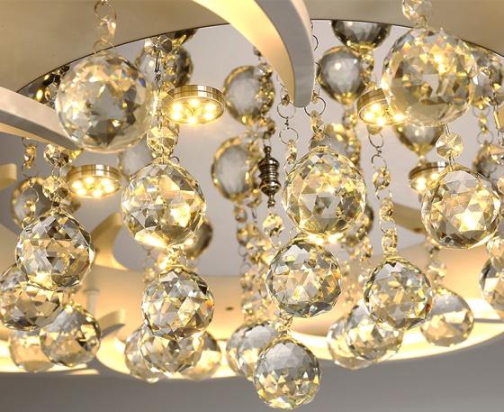 Đèn mâm ốp trần pha lê OP012-8 - Đèn trang trí Homelight
