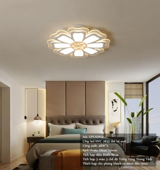 Đèn mâm ốp trần pha lê 014 - OP014 - Đèn trang trí Homelight