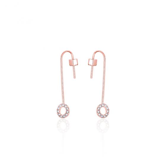 Bông tai vàng hồng cao cấp Lộc Phúc I1C.DEE1996E-R