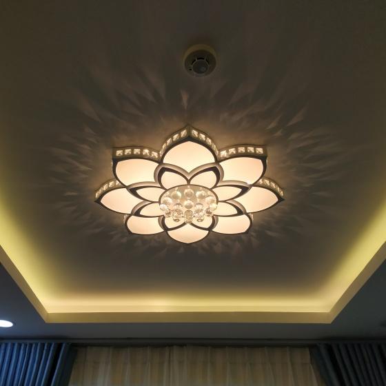 Đèn mâm ốp trần pha lê 09 - OP09-8 - Đèn trang trí Homelight