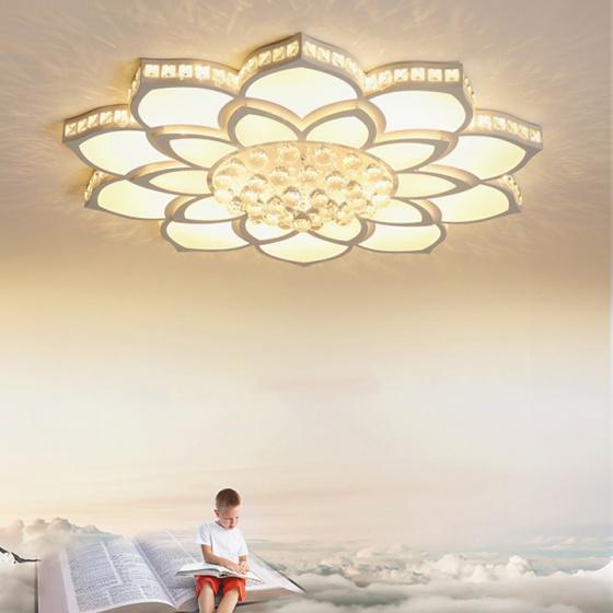 Đèn mâm ốp trần pha lê 09 - OP0910 - Đèn trang trí Homelight