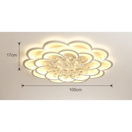 Đèn mâm ốp trần pha lê OP012-10 - Đèn trang trí Homelight