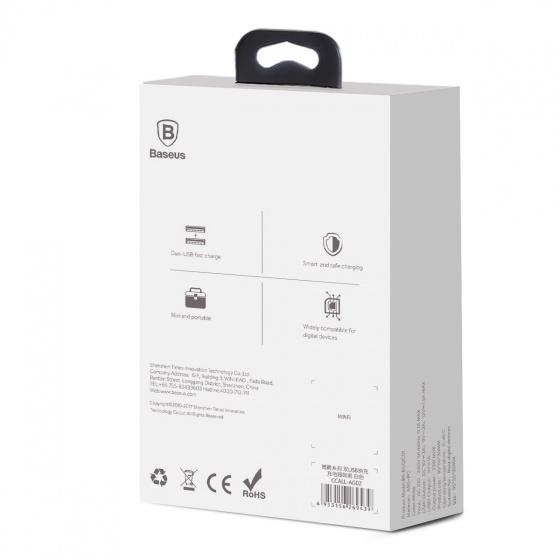 Sạc nhanh 2 cổng USB Baseus Bojure Series QC 3.0 - White