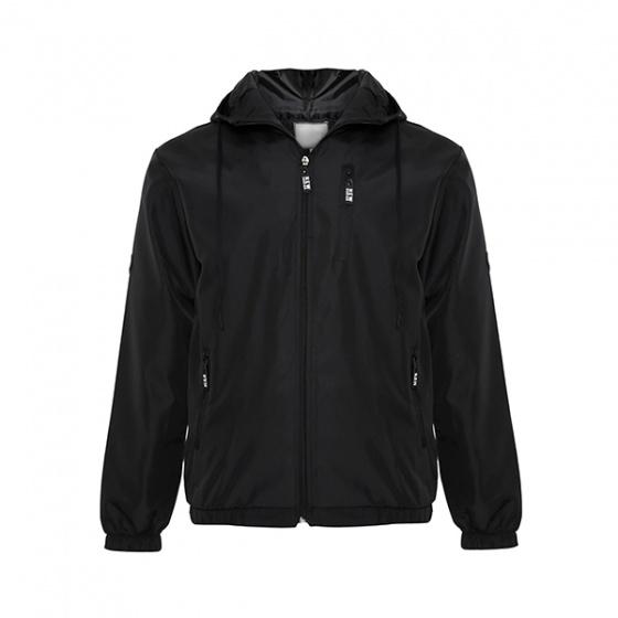 Áo khoác dù nam có nón phối túi Bonado AK27 đen