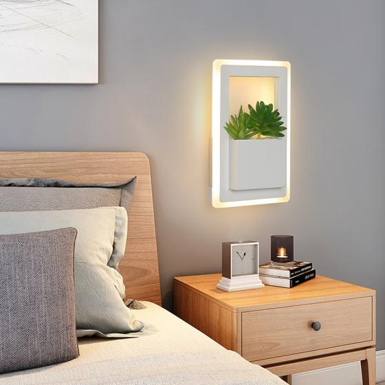 Đèn treo tường Led - Đèn tường trang trí Có tiểu cảnh - Gắn tường Phòng khách, Phòng ngủ - DTLC001