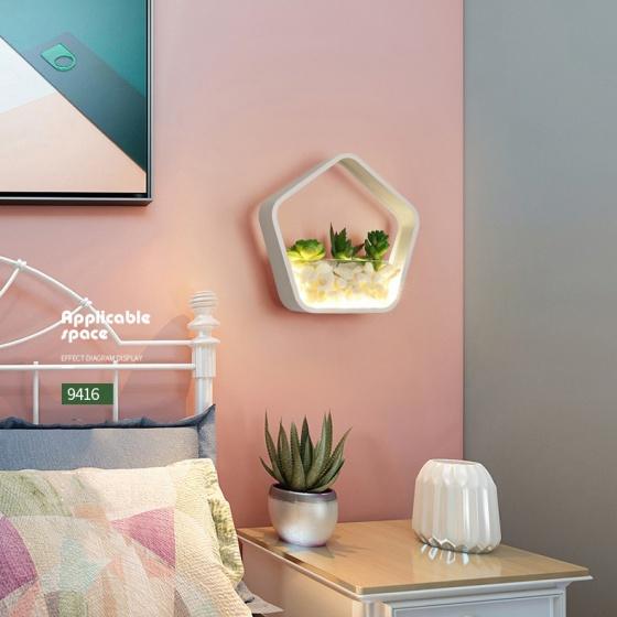Đèn treo tường Led - Đèn tường trang trí Có tiểu cảnh - Gắn tường Phòng khách, Phòng ngủ - DTLC006