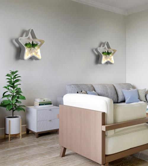 Đèn treo tường Led - Đèn tường trang trí Có tiểu cảnh - Gắn tường Phòng khách, Phòng ngủ - DTLC008